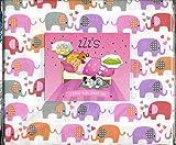 zZz's Elefantes besándose Doble Juego de sábanas Elephant N Corazones Hojas