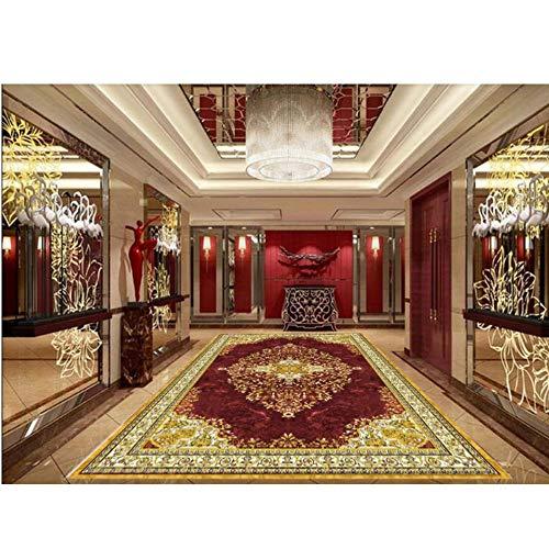 Preisvergleich Produktbild Zybnb Tapete Des Bodenbelags 3D Marmorparkett Selbstklebende Tapeten-Vinylboden -280X200Cm