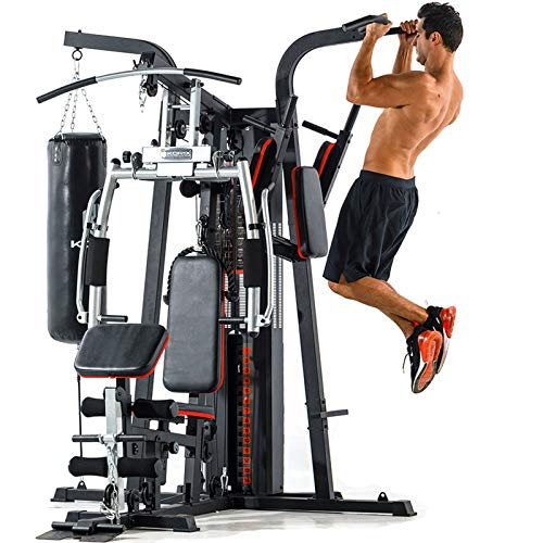 EIU Multi-functional Home Gym Workout Station Fitness Body Exercise 30+ Sports Functions, Sandbag Single Parallel Bars(220 Kg)