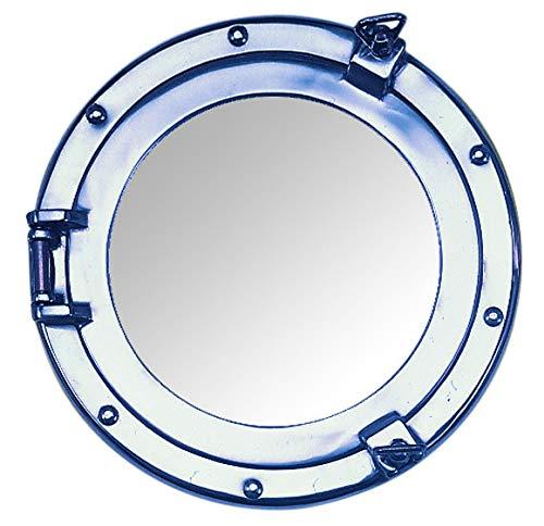 Nauticalia Spiegel, Bullauge, Aluminium, 20 cm, silberfarben
