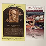 Autographed/Signed Chipper Jones HOF Hall Of Fame Baseball Plaque Postcard JSA COA