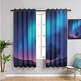 SONGDAYONE Fantasy Stoffvorhang, Vorhänge 183 cm Länge,