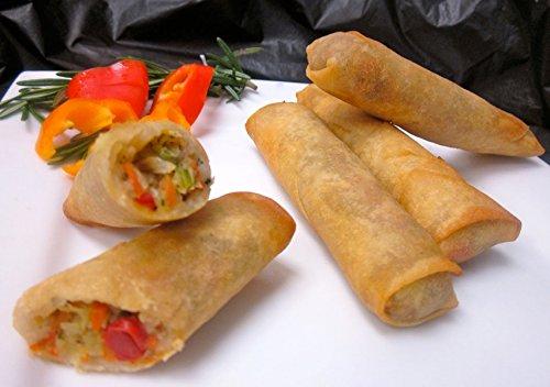 Vegetable Spring Rolls - Gourmet Frozen Vegetarian Appetizers (40...