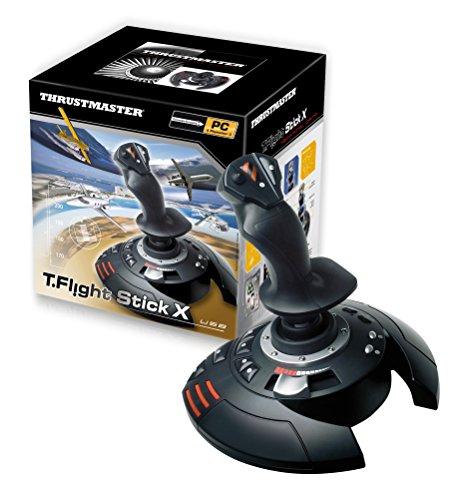 Thrustmaster T.Flight Stick X, Joystick mit Rudersteuerung, umprogrammierbaren Tasten und Achsen, Drehgriff, integriertem Schubhebel, Schnellfeuerauslöser, PC/USB-kompatibel