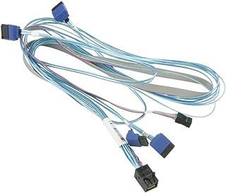 Supermicro CBL-SAST-0810 SATA/SAS cable - with Sidebands - SAS 12Gbit/s - 4 x Mini SAS HD (SFF-8643) (M) to SATA, sideband...
