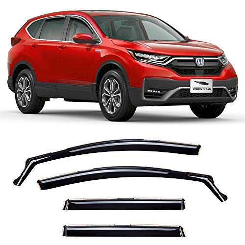 Voron Glass in-Channel Extra Durable Rain Guards for Honda CR-V (CRV) 2017-2021, Window Deflectors, Vent Window Visors, 4 Pieces - 220150