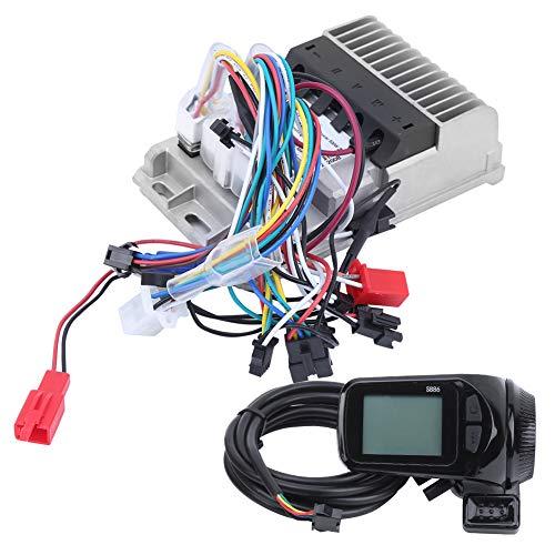 wosume 【𝐕𝐞𝐧𝐭𝐚 𝐑𝐞𝐠𝐚𝐥𝐨 𝐏𝐫𝐢𝐦𝐚𝒗𝐞𝐫𝐚】 Controlador sin escobillas Resistente al Agua y al Polvo, Controlador de triciclos eléctricos, Accesorio de Bicicleta eléctrica de Aluminio