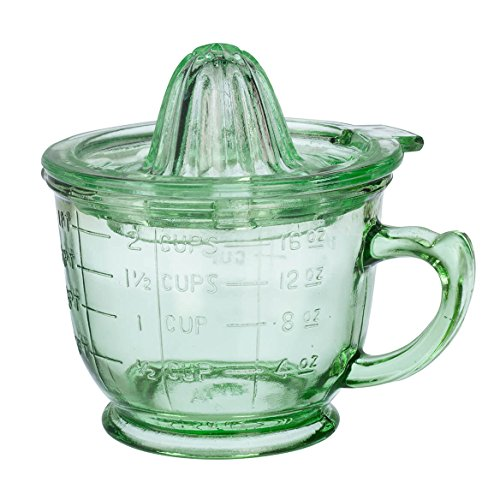 Nostalgia Style 16 oz. Glass Juice by Home Marketplace, Classic Green, 2 Piece Set