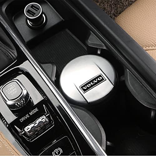 6P6 Volvo Car Ashtray Interior Especial Los Suministros Automotrices No Bloquean La Cubierta Original del Automóvil,Plata