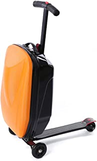Luggage Scooter, 20'' Scooter Suitcase for Airport Travel Business School (Orange)