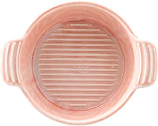 Baking Dish 3 Piece Kiln Glaze Creative Ceramic Baked Rice Bowl Home Small Microwave Oven Baking Tray (Color : Pink, Size ...
