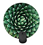 Green Seamless Plant Cactus Round Mouse Pad Non-Slip Mouse Pad Gaming Mouse Pad