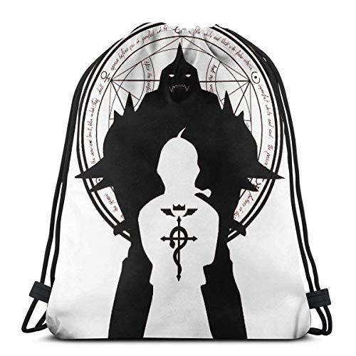 Kordelzug Tasche FM Alchemist Sporttasche Gym Sack Kordelzug Rucksack Sack String Bag Cinch Wasserabweisend Strandtasche für Gym Shopping Sport Yoga 36 x 42 cm Gr. One size, 3