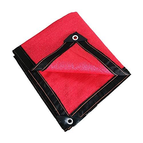 LLCY Red Sunblock Shade Sails Shade Paño 85% Paño de protección Solar de protección Sol usada para el Techo, balcón, Patio, Flores, sombreado Red Malla de sombreo (Color : Red, Size : 2×4m)