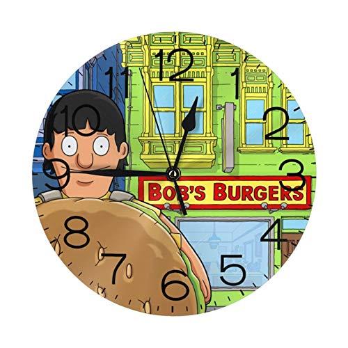 NOBRAND Relojes sin Marco Reloj sin tictac Número de Reloj Reloj de Pared Redondo