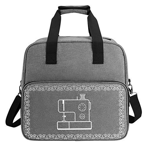 Xeroy Máquina de coser lleva el bolso con correa el hombro, caso del recorrido de la máquina de coser Gris