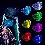 MNK LED Flashing Luminous Mask, Light Up Rave Mask Rechargeable LED Mask