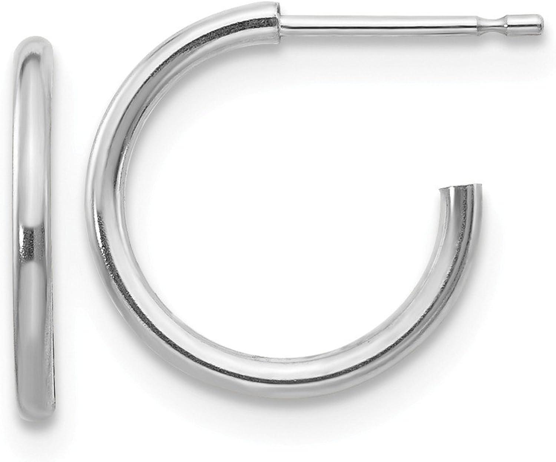 Beautiful White gold 14K 14k White gold Madi K Hoop Earrings