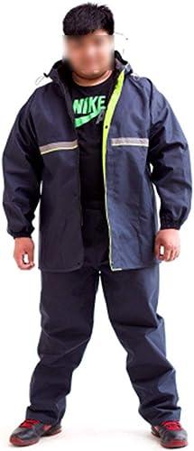 ZHPBHD Pantalon de Pluie Double imperméable Split très Grand imperméable Lumineux épaissi Plus Graisse Plus Taille Adulte Unisexe (Couleur   Bleu Marin, Taille   XS)