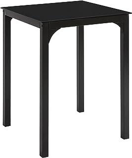 SoBuy OGT38-K-SCH Table à Manger Carrée Table de Cuisine Table à Dîner Noire - 60 x 60 x 75 cm, pour Salle à Manger, Cuisi...