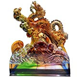 J.Mmiyi Dragón Decoración Estatua Feng Shui Figura Animales Chinos Escultura Decoración del Hogar, Adornos De Buena Suerte Regalos,A