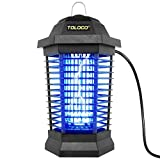 Bug Zapper Outdoor Electric, Insect Fly Traps, Mosquito Zappers, Mosquito Killer for Patio, Black (Black)