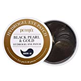 PETITFEE Black Pearl & Gold Hydrogel Collagen Eye Patch Eye Mask 60 Pieces. A Wrinkle Resistance & Relieving Dark Circle Puffiness Treatment