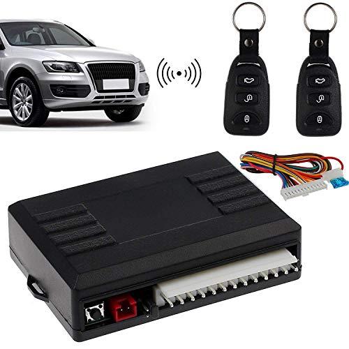 AUTOUTLET Universal Keyless Open Funkfernbedienung, Auto KFZ Funkfernbedienung Klappschlüssel FB Zentralverriegelung, mit 2 Mini-Funksender