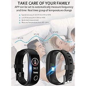 Swonuk Pulsera Inteligente Actividad, Bluetooth Smartwatch Monitores de Actividad Fitness, Impermeable IP68 Reloj Deportivo para Hombre Mujer Niños, Adecuado para Android y iOS