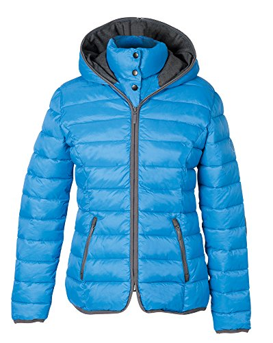 PFIFF 102410 Damen Steppjacke Cerul, Reitjacke Damenjacke Jacke Kapuze, Mittelblau XS