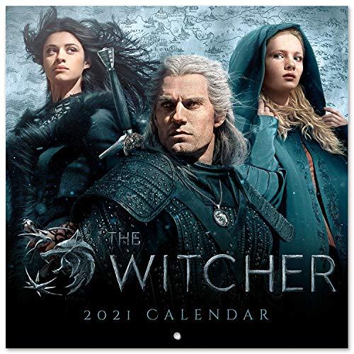 Grupo Erik Official The Witcher 2021 Wall Calendar 11.8 x 11.8 inches (16 Months) Family Planner Calendar 2021