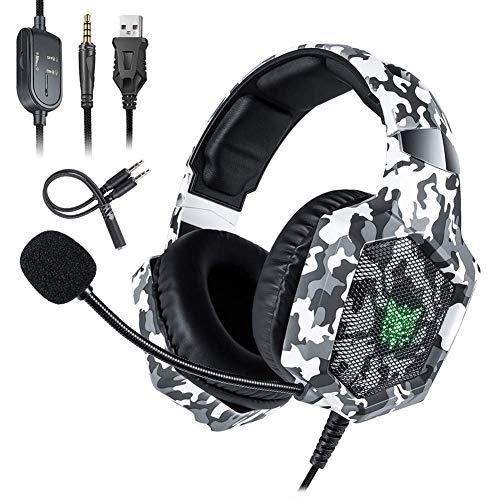 Jumor Gaming Kopfhörer Für PS 4 PC Computer|Professioneller 3,5Mm Gaming Headset|Stereo Sound Mikrofon Mit Rauschunterdrückung Und Lautstärkeregler|Egonomisches Design, Geringes Gewicht,A