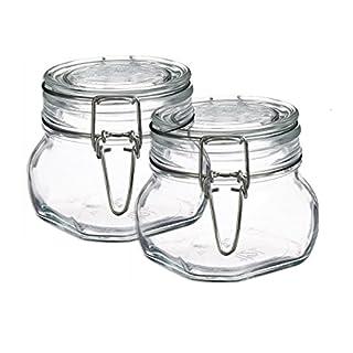 Bormioli Rocco Set OF 2 Fido Square Clear Jar, 17 1/2 Ounce (B0116I6T18) | Amazon price tracker / tracking, Amazon price history charts, Amazon price watches, Amazon price drop alerts