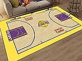 ZHMIAO Lakers Alfombra Cancha De Baloncesto para Interiores Y...