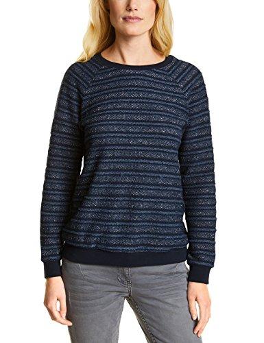 Cecil Damen 300444 Sweatshirt, deep Blue, XX-Large