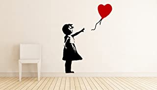 Banksy Girl with Balloon Street Graffiti Art Wall Decal - 24