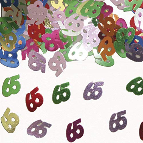 Folat 05318 - Tischkonfetti Zahl 65 - bunt - 1 x 14 gr.