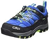 CMP – F.lli Campagnolo Kids Rigel Low Trekking Shoe WP, Zapatillas de Senderismo Unisex niños, Azul Royal Frog 94bd, 28 EU