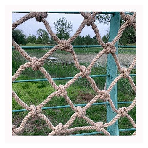 Red para colgar, cuerda de manila natural, cuerda decorativa de yute, cordón de cáñamo, protección de valla de jardín, para niños, cuerda de Navidad de 12 mm (tamaño: 1 x 3 m)