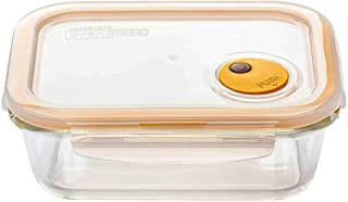 Lock & Lock LLG445T Steam Hole Glass Container Rectangle 1.0L, Transparent (Assorted Colors)