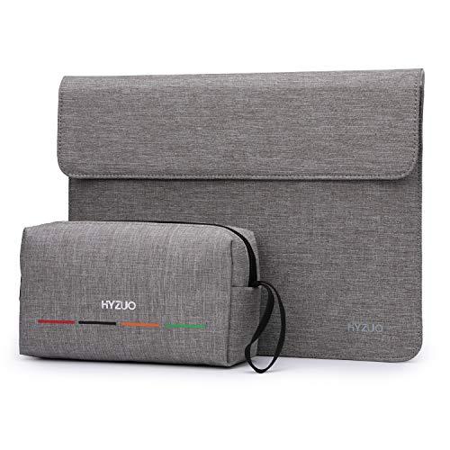 HYZUO 13-13,5 Zoll Laptop Hülle Laptophülle Kompatibel mit 13,5 Surface Laptop/HP Envy 13/HP Spectre x360 13/iPad Pro 12,9 2017/Alt MacBook Air 13/MacBook Pro 13 2012-2015, Hellgrau-H (Magnetisch)