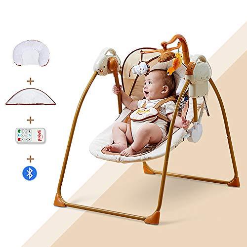Hamaca para Bebes, Eléctrica Mecedora para Bebés,Balancín Columpio Hamaca Plegado Con mosquitera/B