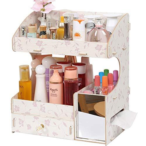 Opbergdoos voor cosmetica, leerverzorgingsproducten, creatieve houten kist met lade Evening Incense