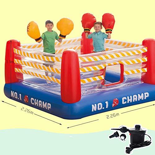 DEAR-JY Castillo Hinchable,226×226×110CM,Centro de Actividades del Parque de Atracciones Small Trampoline Toys para niños,Parque Inflable del Castillo para niños de Interior y Exterior