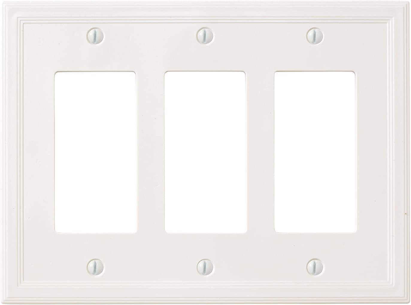 Insulated Triple Rocker - White Light Switch Cover Decorative Outlet Cover Wall Plate