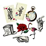 Talking Tables Pack of 8 Alice in Wonderland Props Oversized Decorations, Supplies For Mad Hatter Party, Birthday, Afternoon Teas, Baby Shower, Garden, Mixed Designs
