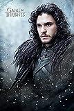 Póster de Juego de Tronos de John Snow, tamaño A4, con texto en inglés 'Game of Thrones'
