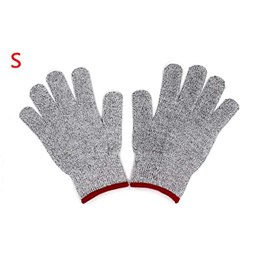 1 paar anti-cut handschoenen Snijbestendige steekwerende veiligheidshandschoenen voor levensmiddelen Rood S