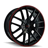 Touren TR60 3260 Wheel with Black Finish with Red Ring (16x7'/5x100mm)
