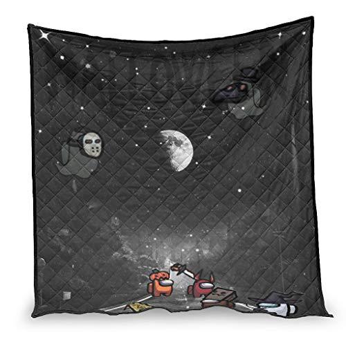 YshChemiy among us - Colcha de algodón gigante para Halloween, manta acogedora y personalizable, para niños y niñas, color blanco 150 x 200 cm